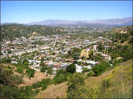 North Figueroa Seen from Montecito Heights width=