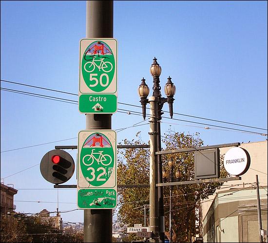 Wayfinding sign, San Francisco