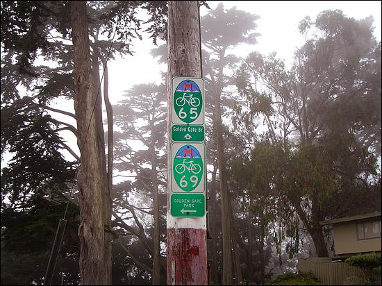 Wayfinding sign in San Francisco's Presidio