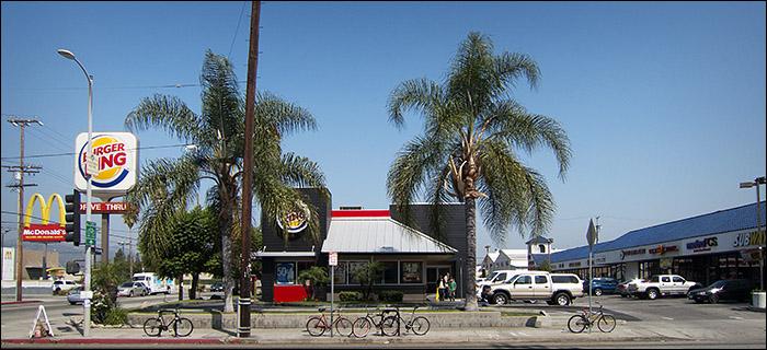 PHoto of bikes at Burger King