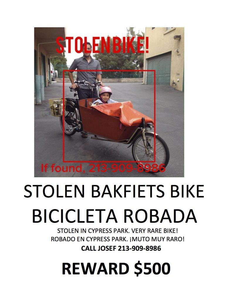 Stolen Bakfiets Poster